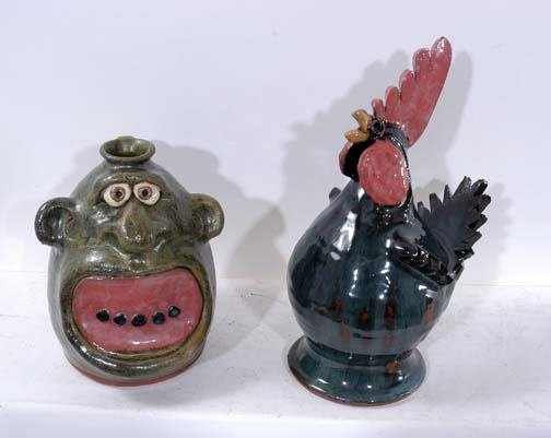 8: Brian Wilson Face Jug and Chicken