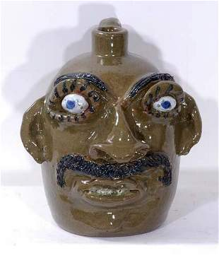 Jerry Brown Face Jug with Moustache