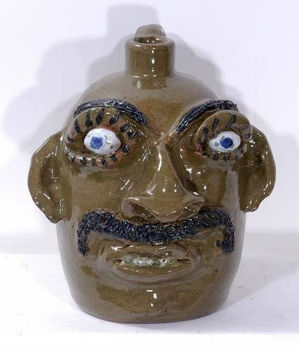 10: Jerry Brown Face Jug with Moustache
