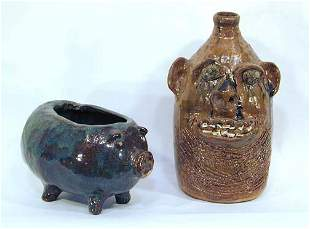 Marie Rogers Face Jug and Pig