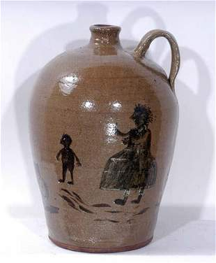 Chester Hewell Edgefield Style Syrup Jug