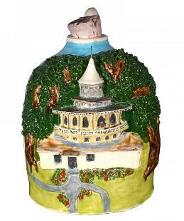 C. Larry Wilson. World Folk Art Church Jug.