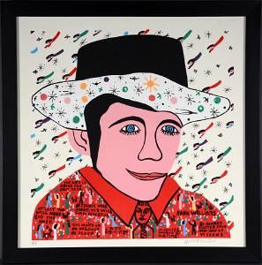 Howard Finster. Hank Williams Artist Proof.