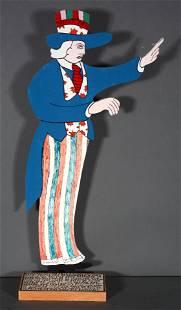Howard Finster. Uncle Sam.