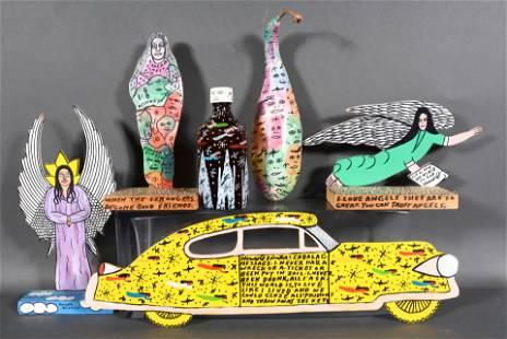 Howard Finster & Michael Finster. Six Unique Artworks.