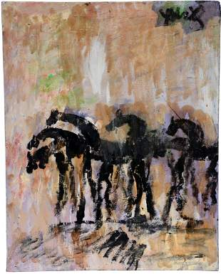 Purvis Young. Horses.