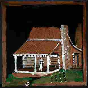 Jimmy Lee Sudduth. Log Cabin.
