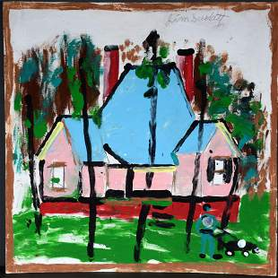 Jimmy Lee Sudduth. House With Blue Roof.