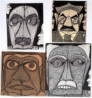 Ted Gordon. Cornered, Shamanic Glance & Untitled.
