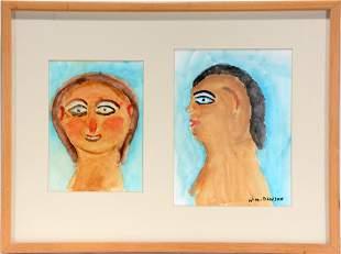 William Dawson. Portraits Framed Together.
