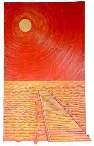 Ab The Flagman. Sunset On The Pier.