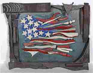 Ab The Flagman. American Flag.