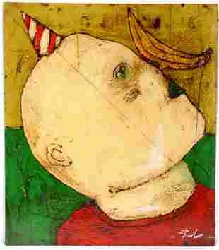 Michael Banks. Boy With Banana On Nose.
