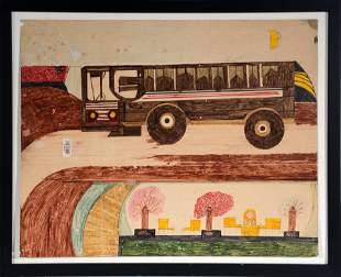 Robert Lindsey Walker. Bus In Moonlight.