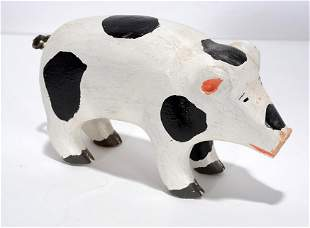 Miles Carpenter. Small Painted Pig.