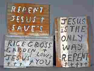 Rev. W.C. Rice. 3 Religious Signs.