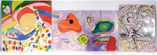 Joseph Hardin. 3 Abstract Paintings.