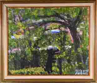 Alyne Harris. Black Bear In Forest.