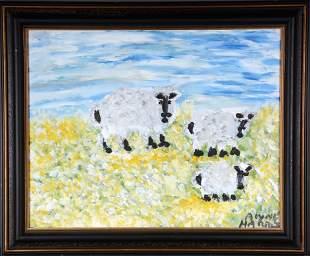 Alyne Harris. Three Sheep.