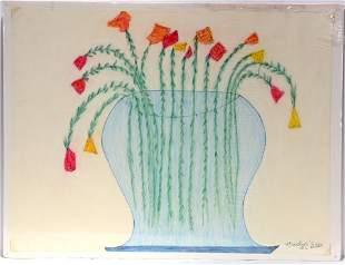 Creative G.C. DePrie. Flowers In Vase.