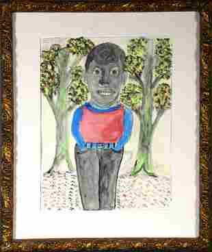 M.C. 5 Cent Jones. Large Man In Forest.
