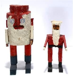 Rev. J.L. Hunter. Two Santas.