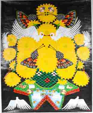 Kahsay Tsadkan. Peace Doves In Sunflowers.