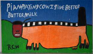 Ruby Williams. Piano Playing Cow.