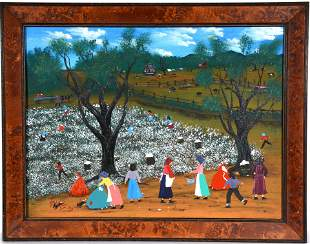 Barbara Presley. Cotton Picking.