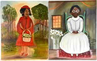 Billie Brewster. Women In Red & White.