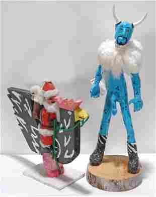 Delbert Buck & Clay Sheff. Santa & El Cucuy.