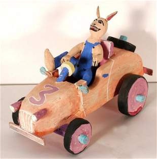 Delbert Buck. Rabbit Car Race.