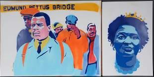 James Schroeder. E. Pettus Bridge & Stacy Abrams.