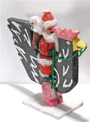 Delbert Buck. Santa Riding Chicken.