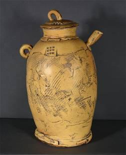 Glenn Dair. Extra Large Art Pottery Tea Pot.