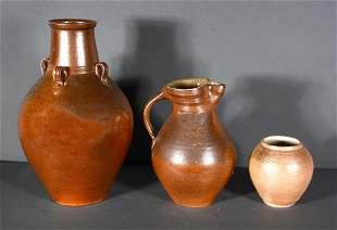 Mark Hewitt. Three Pottery Pieces.