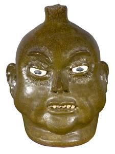 Lanier Meaders. Rock Tooth Face Jug.