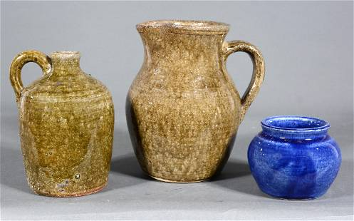 Edwin Meaders & Family. Jug, Pitcher & Vase.