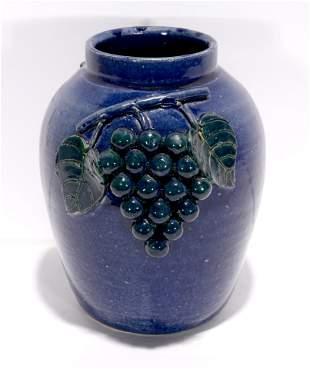 Edwin Meaders. Blue Grape Vase.