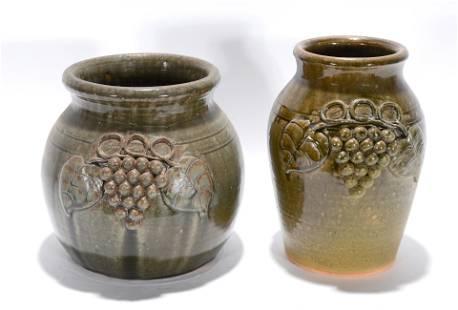 John Meaders. Grape Decorated Pots.