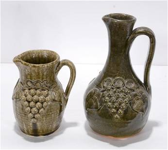John Meaders. Grape Decorated Pitchers.