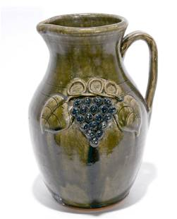 John Meaders. Dbl-Sided Grape Pitcher.