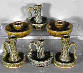 Lanier & C.J. & Billie Meaders. 6 Candle Stick Holders.