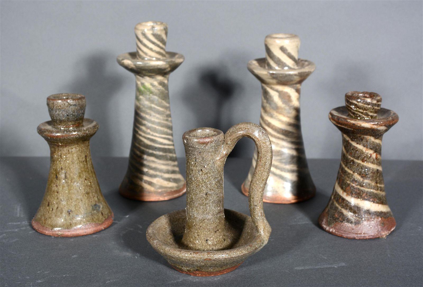 B.B. Craig. 5 Candle Stick Holders.