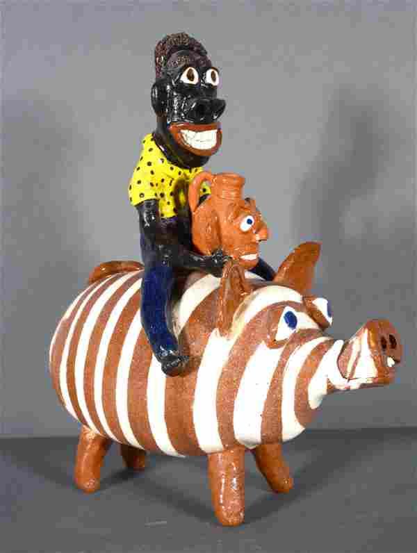 Albert Hodge. Man Riding Pig.