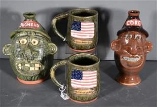 Brian Wilson. Face Jugs and American Flag Mugs.