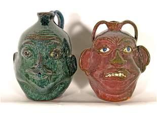 Charles West & Albert Hodge. Face Jugs.