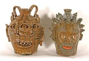 Robert Patton & Yvette Lesley. Devil Jug & Face Jug.