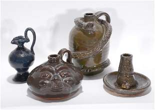 Mixed Artists. 4 Pottery Pieces.