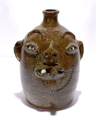 Billy Henson. Wood-Fired Face Jug.